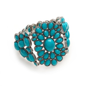 Sussan Turquoise Flower Stretch Bracelet