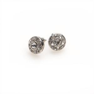 Sussan Silver Deco Diamante Stud