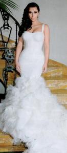 1 of the 3 Kim Kardashian Wedding Gowns