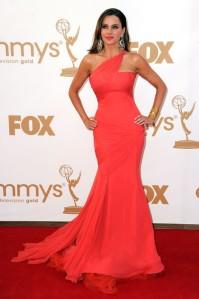 Sofia Vergara at the 2011 Emmy Awards