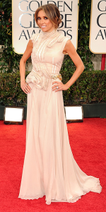 Giuliana Rancic in (Lebanese Fashion Designer) Basil Soda at the 2012 Golden Globes