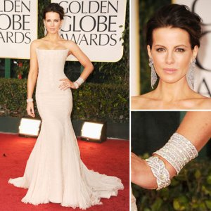 Kate Beckinsale in Roberto Cavalli at the 2012 Golden Globes