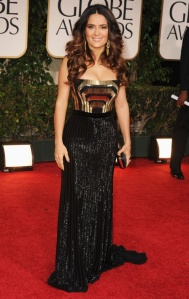 Salma Hayek in Gucci at the 2012 Golden Globes