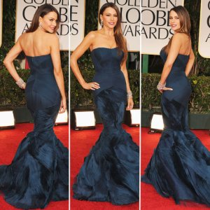 Sofia Vergara in Vera Wang at the 2012 Golden Globes