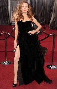 Angelina Jolie 2012 Oscars in Atelier Versace
