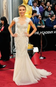 Giuliana Rancic 2012 Oscars in (Lebanese Fashion Designer) Basil Soda