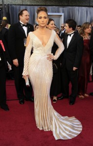Jennifer Lopez 2012 Oscars in Zuhair Murad Couture