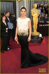 Sandra Bullock 2012 Oscars in Marchesa