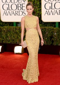 Emily Blunt at the 2013 Golden Globes in Michael Kors