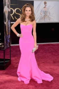 Maria Menounos at the 2013 Oscars in Romona Keveza