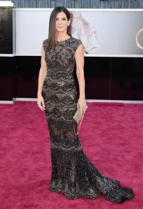 Sandra Bullock at the 2013 Oscars in Elie Saab Haute Couture