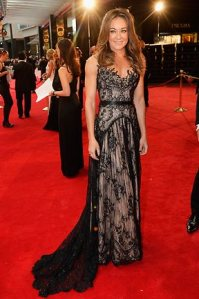 Michelle Bridges at the 2013 Logies in Paolo Sebastian