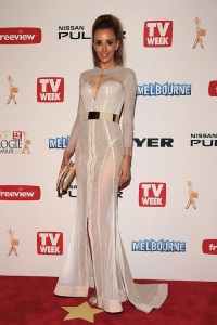 Rebecca Judd at the 2013 Logies in J'Aton