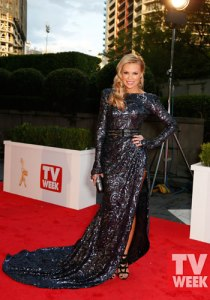 Sonia Kruger at the 2013 Logies in Steven Khalil