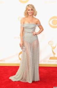 Julianne Hough at the 2013 Emmy Awards in Jenny Packham