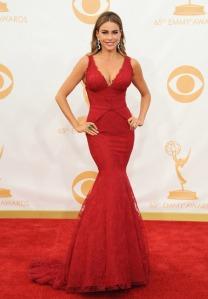Sofia Vergara at the 2013 Emmy Awards in Vera Wang