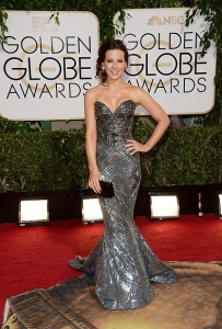 Kate Beckinsale at the 2014 Golden Globes in Zuhair Murad Couture