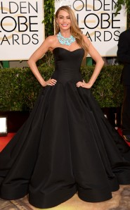 Sofia Vergara at the 2014 Golden Globes in Zac Posen