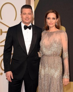 Angelina Jolie at the 2014 Oscars in Elie Saab Haute Couture