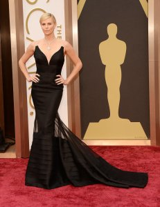 Charlize Theron at the 2014 Oscars in Christian Dior Haute Couture