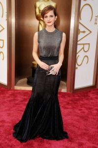 Emma Watson at the 2014 Oscars in Vera Wang