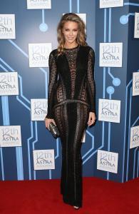 Jennifer Hawkins at the 2014 Astra Awards in Roberto Cavalli