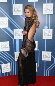 Jenifer Hawkins at the 2014 Astra Awards in Roberto Cavalli