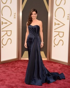 Sandra Bullock at the 2014 Oscars in Alexander McQueen