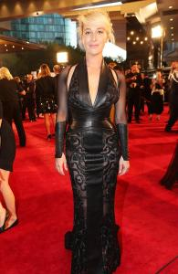 Asher Keddie at the 2014 Logies in J'Aton Couture