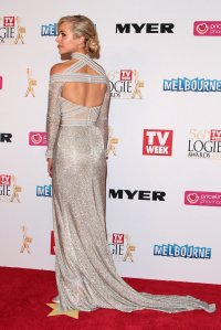 Jessica Marais at the 2014 Logies in J'Aton Couture