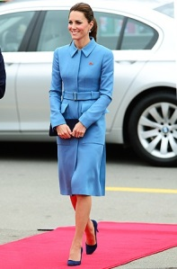 Kate Middleton in Sarah Burton for Alexander McQueen Powder-Blue Coat