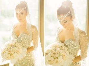Amber Ridinger wears J'Aton Couture to her wedding in 2013