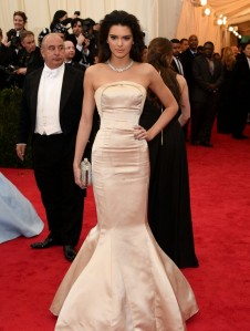 Kendall Jenner at the 2014 Met Ball in Topshop