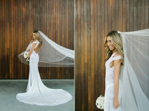 Nadia Coppolino in J'Aton Couture at her Wedding to AFL star Jimmy Bartel in 2014