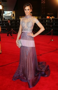 Rebecca Judd at the 2014 Logies in J'Aton Couture
