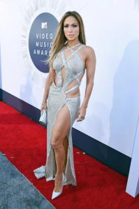 Jennifer Lopez at the 2014 MTV Video Music Awards in Charbel Zoe Couture