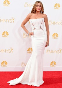 Sofia Vergara at the 2014 Emmy Awards in Roberto Cavalli