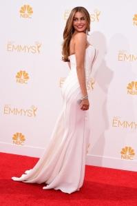 Sofia Vergara at the 2014 Emmy Awards in Roberto Cavalli