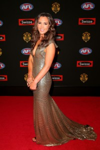 Belinda Riverso in Simonelli Couture at the 2014 Brownlow Medal Red Carpet