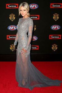 Jessie Habermann in Oglia-Loro Couture at the 2014 Brownlow Medal Red Carpet