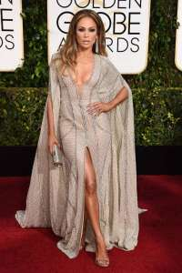 Jennifer Lopez at the 2015 Golden Globes in Zuhair Murad Couture