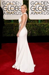 Kate Hudson at the 2015 Golden Globes in Atelier Versace