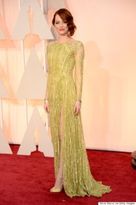 Emma Stone wearing Elie Saab Haute Couture at the 2015 Oscars
