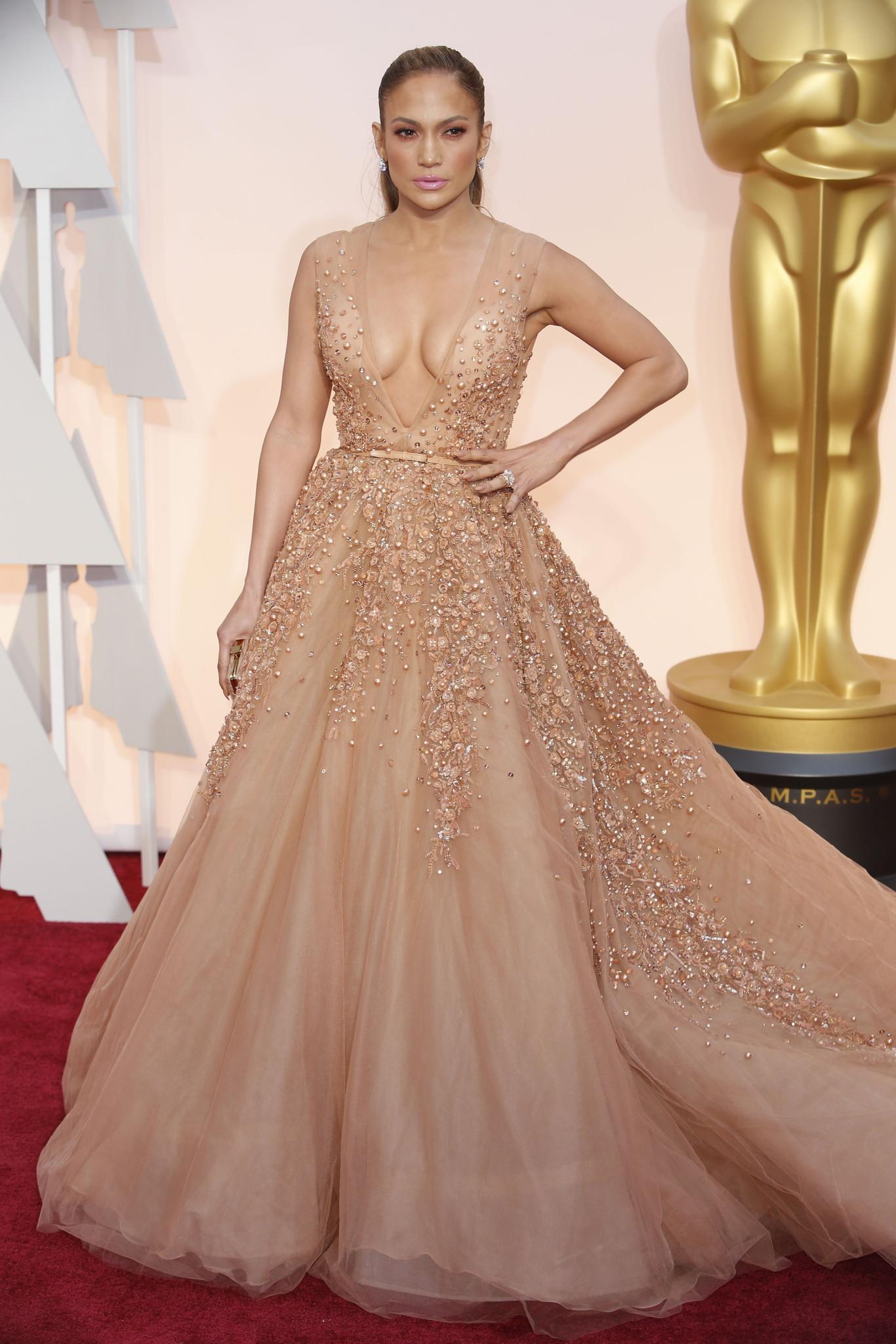Giuliana rancic 2014 oscars paolo sebastian dress - Jennifer Lopez Wearing Elie Saab Haute Couture At The 2015 Oscars