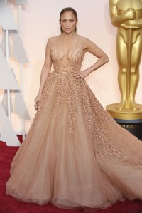 Jennifer Lopez wearing Elie Saab Haute Couture at the 2015 Oscars