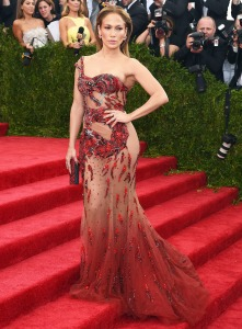 Jennifer Lopez at the 2015 Met Ball in Versace