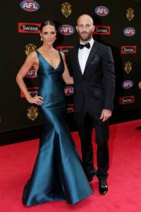 Clementine McVeigh in Monique Lhuillier at the 2015 Brownlow