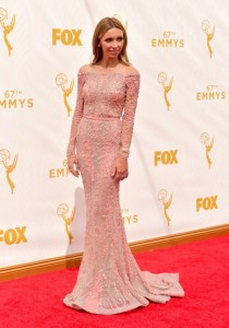 Giuliana Rancic at the 2015 Emmys in Ziad Nakad