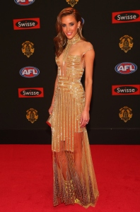 Rebecca Judd in J'Aton Couture at the 2015 Brownlow