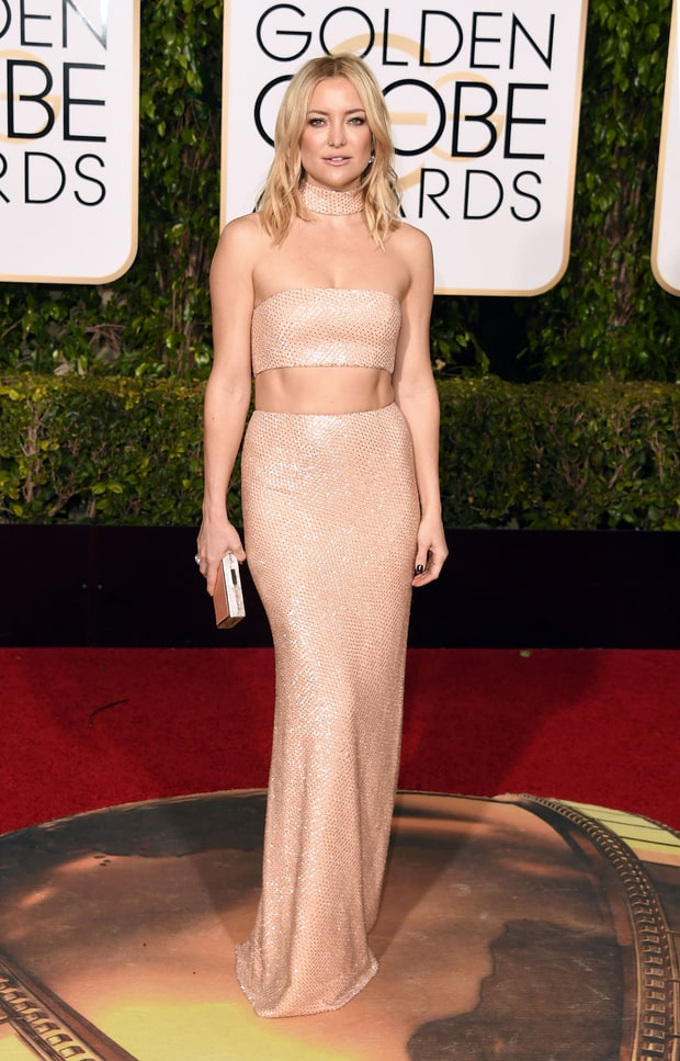 Kate Hudson at the 2016 Golden Globes in Michael Kors